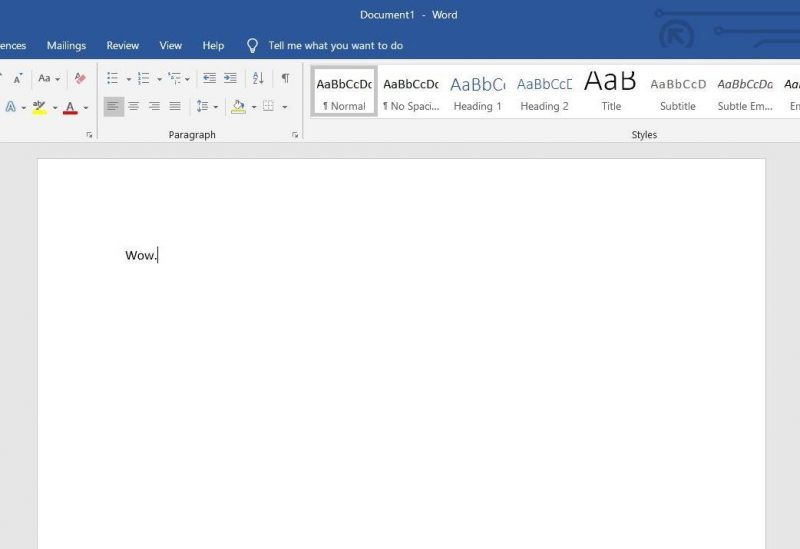 Microsoft Office Blank Document