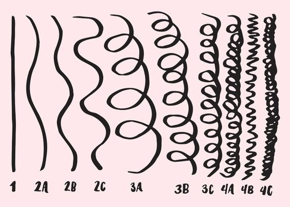 identify your curl pattern. Ranging from straight to kinky,