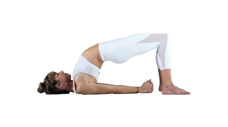 Bridge pose (Setu bandha Sarvangasana) yoga pose